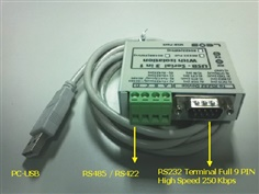 PLC Download Cable - USB TO RS232/RS485/RS422 (ISOLATE) รุ่น USB-SERIAL 3in1