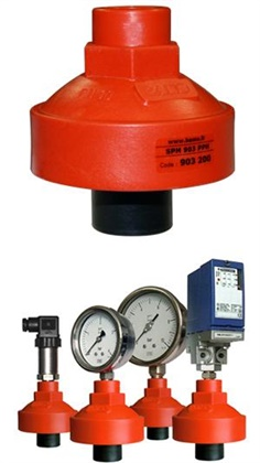 Bourdon Tube Pressure Gauge with Plastic Diaphragm Seal