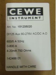 "CURRENT TRANSDUCER ""CEWE"""