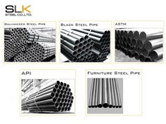 Galvanized Steel Pipe / Black Steel Pipe / ASTM / API / Furniture Steel Pipe