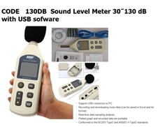 130DB  Sound Level Meter 30?130 dB with USB sofware