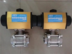 BALL VALVE WITH PNEUMATIC ACTUATOR