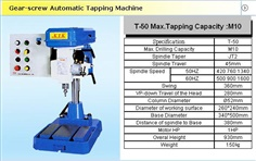 T-50 Gear-Screw Automatic Tapping Machine T-50