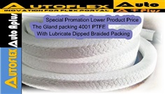 Gland Packing 4001 PTFE With Lubricate Dipped Braided Packing
