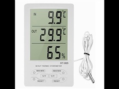 Digital Thermometer & Hygrometer รุ่น KT-905 indoor / outdoor