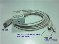PLC Download Cable - USB TO FX 2 IN 1 with Isolation รุ่น FX-USB-AW