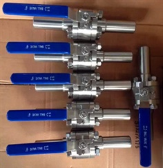 3PC F316 Forged Ball Valve with Extended Pipe