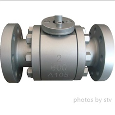 Flange Trunnion Mounted Ball Valve, ASTM A105, 2 Inch, 600 LB