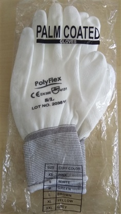 PolyFlex ถุงมือ PU Plam COATED GLOVES