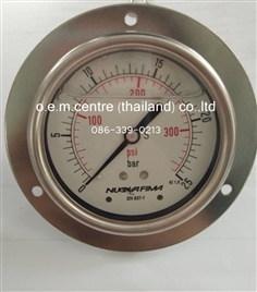 """NUOVA FIMA"" Pressure Gauge 0-25 Bar / 0-360 Psi"