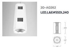 Surface Down Light LED, L&E# SSDL240