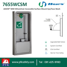 ที่ล้างตาฉุกเฉิน Wheelchair Accessible Surface Mount Eye-Face Wash 7656WCSM