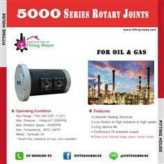 5000 Series Rotary Joints For Oil & Gas