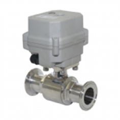 sanitary motorized valve