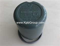 SANWA DENKI Pressure Switch SPS-15, ON0.18MPa, OFF0.28MPa, Rc3/8, ZDC2
