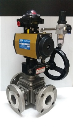 BALL VALVE 3 WAY L-PORT/T-PORT