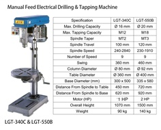 Manual Feed Electrical Drilling & Tapping Machine