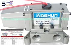 "AD15-303-110 size 3/8"" Ashun วาล์วรถถัง Metal Seal ไฟ 110v 220v ทนทาน ใช้งานหนัก ส่งฟรีทั่วประเทศ"