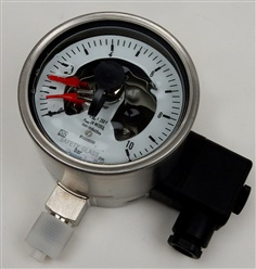 Wika 233 Pressure Gauge With Alarm Contact