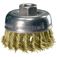 Brass knot wire cup brush