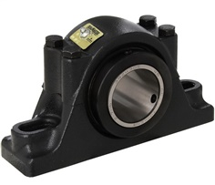 Sealmaster RPB 207-C2 CR 554907 Pillow Block Roller Bearing Unit - 2.4375 in Bore Dia., Two-Bolt Base, Split Pillow Block, Cast Iron / Polyme Coated Material, Non-Expansion Bearing (Fixed)