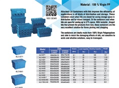Attached lid container Material 100% Virgin PP