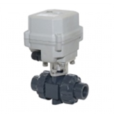A150-T15-P2-B DN15 UPVC Motorized valve with manual override