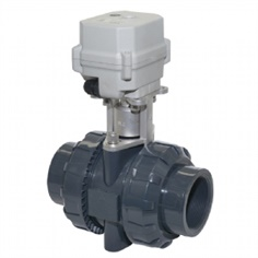 A150-T50-P2-B DN50 2 inch  UPVC  double Union Motorized valve