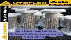 Flexible Hose Corrugated Annular SUS304, SUS321,SUS316 Flange With End Fixed+Free Side