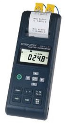 422324: 4 Thermocouple Dual Input Thermometer/Printer with Alarm