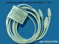 PLC Download Cable - USB TO PLC MITSUBISHI 3 IN 1 (ISOLATE) รุ่น USB-MITSU-02