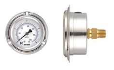 SKON-Liquid Filled Pressure Gauge , Back Connection