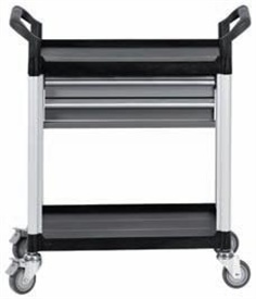 Workshop service trolley with 2 drawers