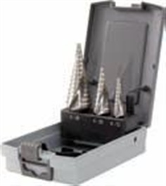 HSS Stepped drill set in plastic case