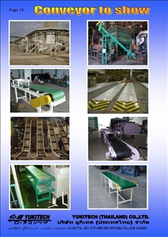 YUKITECH (THAILAND) CO.,LTD. BELT CONVEYOR, BELT TRANSMISSION, WIRE MESH BELT