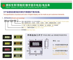 digital current meter and voltage meter
