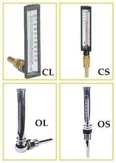 TEKLAND - CYLINDRICAL TYPE ; ANGULAR BOARD TYPE THERMOMETER