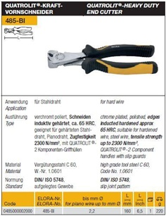 QUATROLIT - Heavy Duty End Cutter