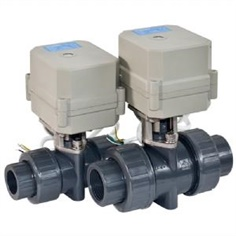 PVC Ball Valve 2 Way Electric Motorized Ball Valve , บอลวาลว์ 2 ทาง