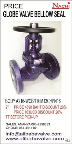 NACHI VALVES : GLOBE VAVLE BELLOW SEAL