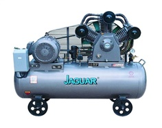 Air cooled piston type single stage oil-less air compressor