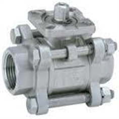 3-pcs ball valve stainless steel - with mounting PAD