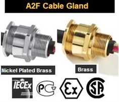 EXe Cable glands,Nickel brass explosion cable glands Zone A2F