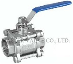 BALL VALVE STAINLESS 3PCs