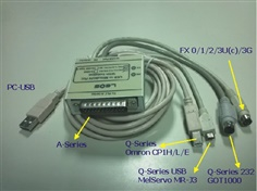 PLC Download Cable - USB to PLC MITSUBISHI 5 in 1 (ISOLATE) รุ่น USB-MITSU-05