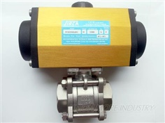 บอลวาล์ว (BALL VALVES) รุ่น 3-PC SUS DN40/SCREWED WITH AP3.5-DA DOUBLE ACTING
