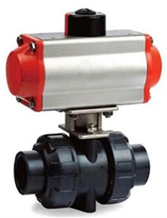 UPVC Ball Valves, Pneumatic Actuated Ball Valve