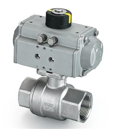 AT series spring return double acting pneumatic actuated camlock coupling valves