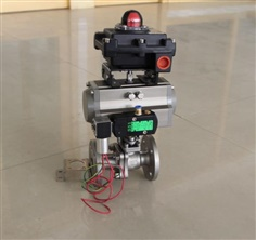 ANSI &JIS Flange Ball valve with pneumatic actuated & limited switch