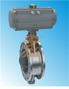 wafer triple eccentric butterfly valve Pneumatic actuator